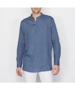 SOFT GREY | Рубашка Из 100 Льна Свободный Покрой
