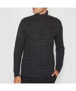 R essentiel | Пуловер С Закатывающимся Воротником И Узором Косы Из Меланжевого Трикотажа
