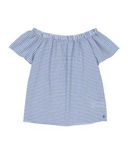 Numph | Блузка В Полоску Открытые Плечи Короткие Рукава