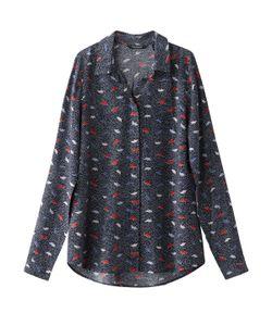 TOM TAILOR | Рубашка С Принтом Оригами И Вышивкой Гладью