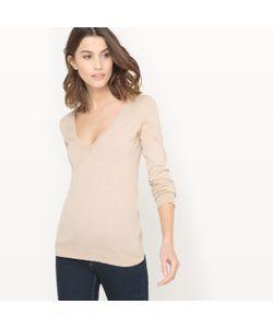 R essentiel   Пуловер С V-Образным Вырезом Из Биохлопка