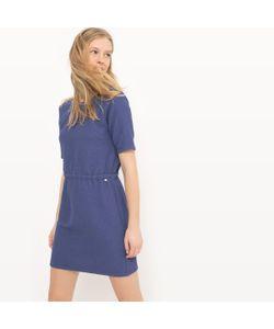 JOE RETRO | Платье Короткое С Короткими Рукавами Однотонное