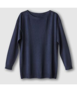 R essentiel | Пуловер Свободного Покроя С Вырезом-Лодочкой Хлопок/Кашемир
