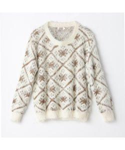 Molly Bracken | Пуловер С Ворсом И Жаккардовым Рисунком