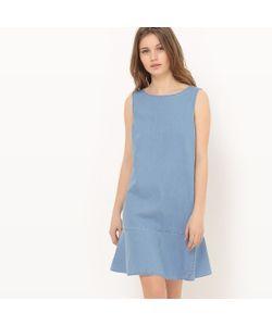 R édition | Платье С Баской Из Тонкого Денима