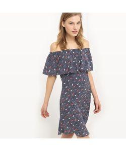 TOM TAILOR | Платье С Открытыми Плечами И Рисунком В Стиле Оригами