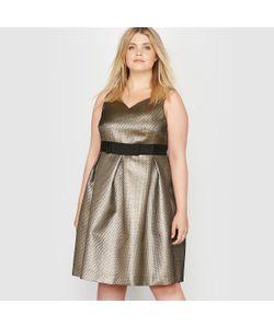CASTALUNA | Платье Вечернее Без Рукавов Из Блестящей Жаккардовой Ткани