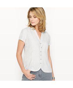 ANNE WEYBURN   Рубашка С Рисунком Из Струящегося Крепа