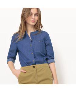 R essentiel | Рубашка Из Денима Без Воротника