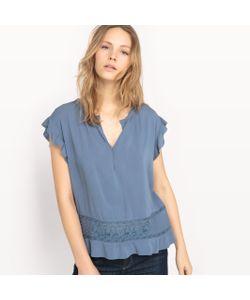 See U Soon | Блузка С Короткими Кружевными Рукавами