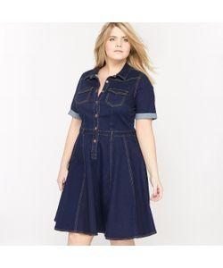 CASTALUNA | Платье С Короткими Рукавами Из Денима