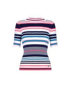 Yumi | Пуловер В Полоску С Короткими Рукавами