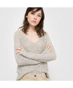 R studio   Пуловер С Длинными Рукавами И V-Образным Вырезом Из Ленточного Трикотажа