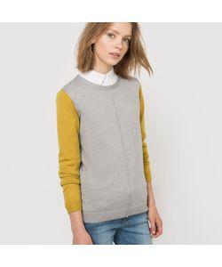 R essentiel | Пуловер Двухцветный Из 100 Шерсти Мериноса