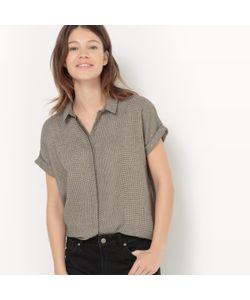 R studio | Рубашка Прямая С Металлизированными Волокнами