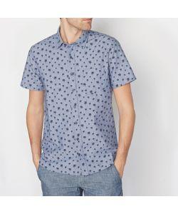 SOFT GREY | Рубашка С Рисунком С Короткими Рукавами 100 Хлопка