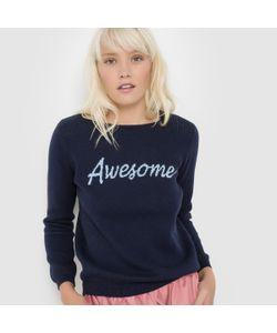 Suncoo   Пуловер С Надписью И Круглым Вырезом Pierrick