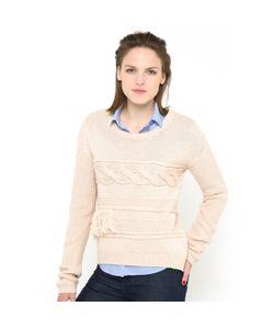 Мини-цена | Пуловер С Узором Косы И Бахромой