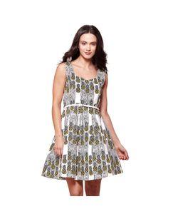 Yumi | Платье Без Рукавов С Рисунком Ананас И Застежкой Сзади