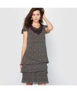 ANNE WEYBURN | Платье С Рисунком Креп С Жатым Эффектом