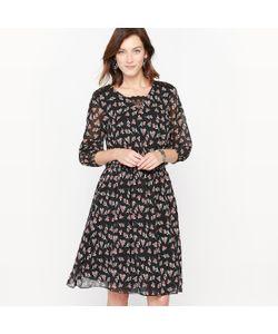 ANNE WEYBURN | Платье С Принтом Из Струящегося Крепа И Кружева