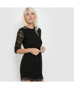 Suncoo | Платье Из Кружева С Рукавами 3/4 Cerise
