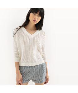 R édition | Пуловер Ажурный С Эффектом Кружева