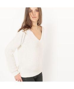 atelier R | Пуловер С Блестящим Эффектом С V-Образным Вырезом Из Хлопка