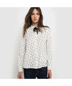 Pepe Jeans London   Рубашка С Рисунком Завязка На Воротнике
