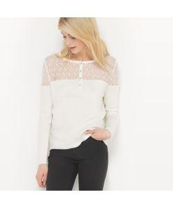 R édition | Пуловер С Круглым Вырезом И Вставкой Из Кружева