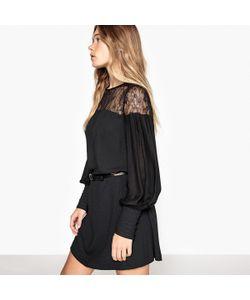 MADEMOISELLE R | Платье Прямое Кружевное С Присборенными Манжетами