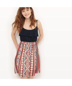 Molly Bracken | Платье На Тонких Бретелях С Геометрическим Рисунком И Воланами