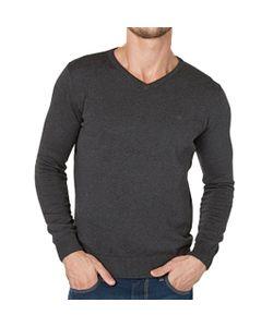 TOM TAILOR | Пуловер С V-Образным Вырезом Из Тонкого Хлопкового Трикотажа