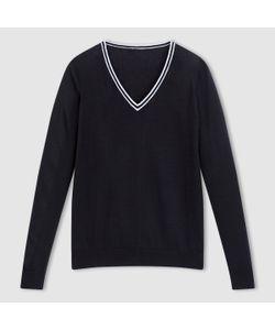 R essentiel   Пуловер 100 Хлопка С V-Образным Вырезом