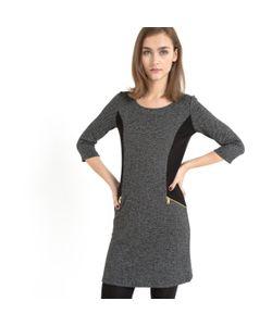 Мини-цена | Платье Из Трикотажа Меланж С Рукавами ¾