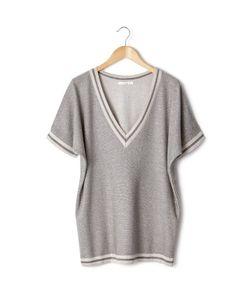 An'Ge   Пуловер С V-Образным Вырезом И Короткими Рукавами