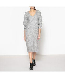 Maison Scotch   Платье Длинное С V-Образным Вырезом