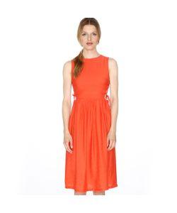 Pepaloves | Платье Расклешенное Без Рукавов На Шнуровке Сбоку