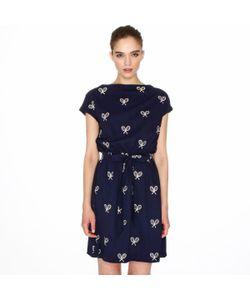 Pepaloves | Платье С Короткими Рукавами И Вышивкой Теннисные Ракетки