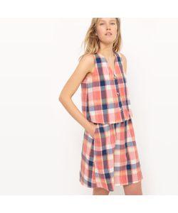 R studio | Платье Короткое Из Ткани Мадрас