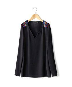 Color Block | Блузка С V-Образным Вырезом.