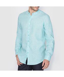 R essentiel | Рубашка Из Льна Стандартного Покроя С Воротником-Стойкой. Длинные Рукава