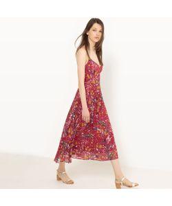 MADEMOISELLE R | Платье Плиссированное С Тонкими Бретелями И Рисунком