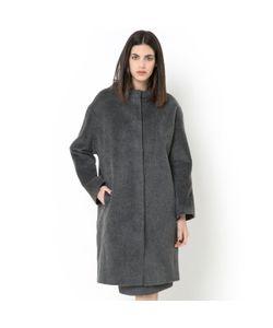 LAURA CLEMENT | Пальто Овального Покроя Материала С Фактурой Шерстяного Ворса