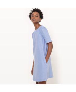 R essentiel | Платье-Футляр В Стиле Оксфорд С Короткими Рукавами