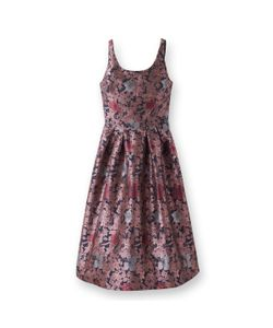 MADEMOISELLE R | Платье-Миди Fit And Flare С Жаккардовым Цветочным Рисунком