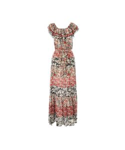 Rene Derhy | Платье Длинное С Короткими Рукавами С Рисунком