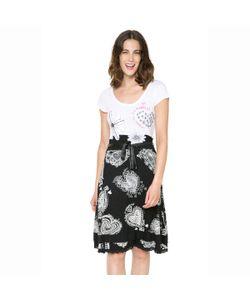 Desigual | Платье С Короткими Рукавами На Поясе Двухцветное Vest Roxana