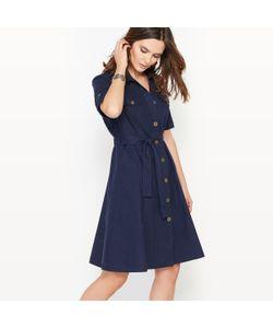 ANNE WEYBURN | Платье Расклешенное 55 Льна