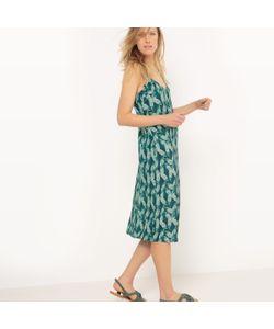 R essentiel | Платье Длинное Из Крепа С Принтом Листья